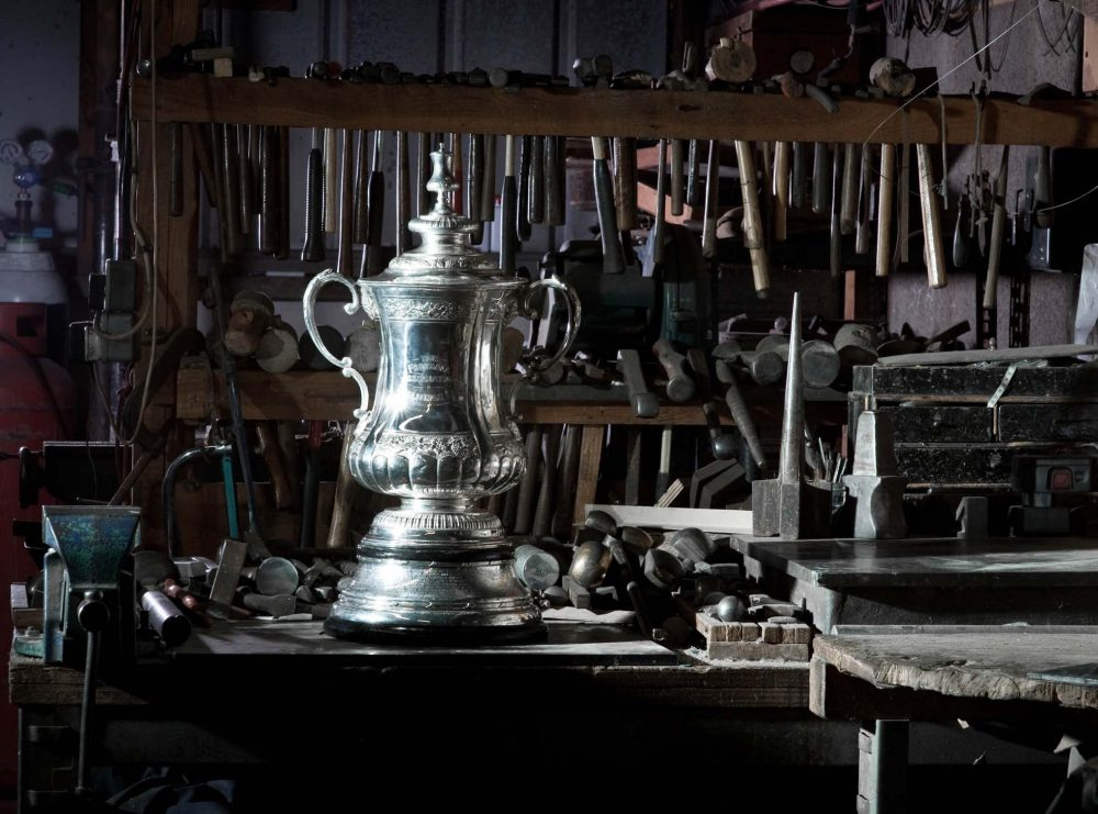 The FA Cup in the workshop